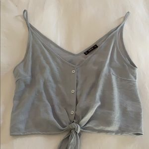Light grey cropped top